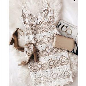 Lulus White Crochet Lace Mini Dress- NWT